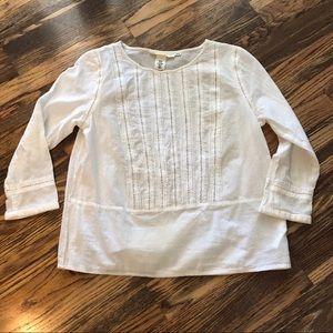 H&M L.O.G.G white 3/4 sleeve top shirt